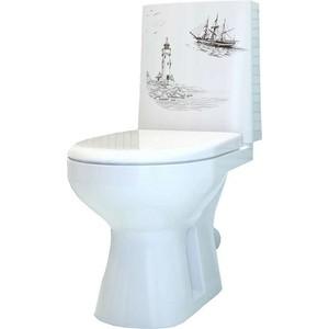 купить Унитаз с бачком Оскольская керамика Леда Люкс Маяк белый с сиденьем (4631111132210) по цене 7410 рублей