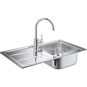 Комплект кухонной мойки Grohe K400 Sink Bundle 45-S со смесителем Concetto (31570SD0)