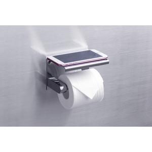 Держатель туалетной бумаги Rush Edge с полкой для телефона, хром (ED77141 Chrome)