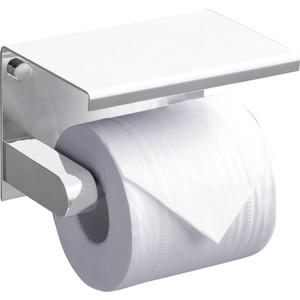 Держатель туалетной бумаги Rush Edge с полкой для телефона, белый глянец (ED77141 White)