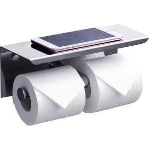 Держатель туалетной бумаги Rush Edge двойной, с полкой для телефона, хром (ED77142A)