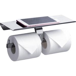 Держатель туалетной бумаги Rush Edge двойной, с полкой для телефона, хром (ED77142B)