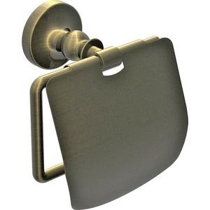 Держатель туалетной бумаги Rush Crete с крышкой, светлая бронза (CR35111)