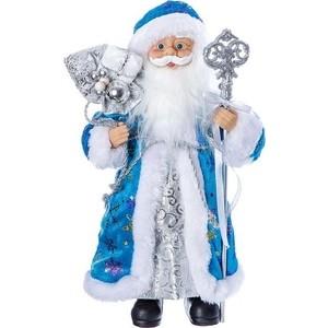 Дед Мороз под ёлку Snowmen с подарками 30см, голубая шуба