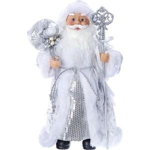 Дед Мороз под ёлку Snowmen с подарками 30см, серебр. шуба