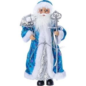 Дед Мороз под ёлку Snowmen с подарками 36см, голубая шуба