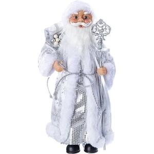 Дед Мороз под ёлку Snowmen с подарками 36см, серебр. шуба