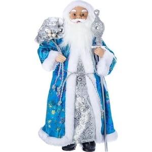 цена на Дед Мороз под ёлку Snowmen с подарками 46см, голубая шуба