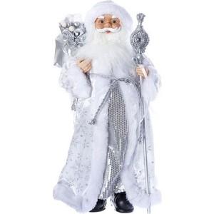 Дед Мороз под ёлку Snowmen с подарками 46см, серебр. шуба