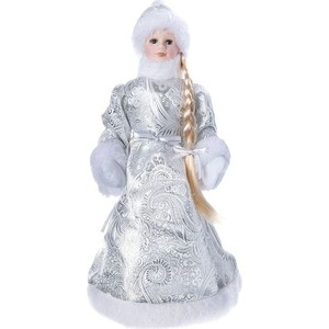 Снегурочка под ёлку Snowmen 36см, серебр. шуба