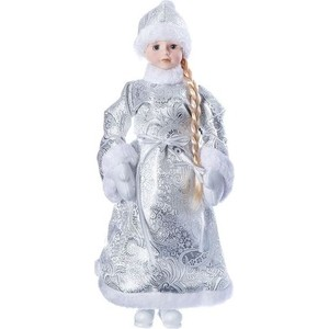 Снегурочка под ёлку Snowmen 46см, серебр. шуба