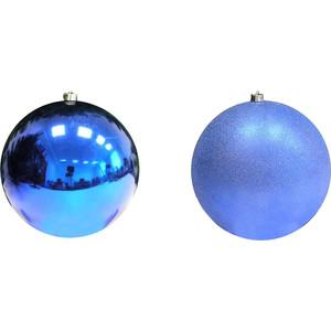 Шар на елку Snowmen 25см. 1шт(искра,блест.) синий в пвх 1цв.