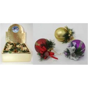 Новогодний набор Snowmen из 6 матовых елочных шаров ручной работы, 8 см