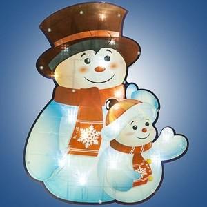 Электрогирлянда панно Snowmen 0. 37х 45м, 30л. LED,бел. кабель 1. 5м до розетки