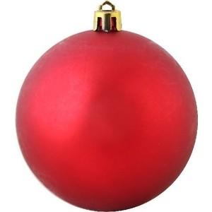 Шар на елку Snowmen пластик мат. d30 см 1шт в пакете красный