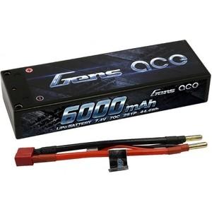 Аккумулятор Gens Ace Li-Po - 7.4В 6000мАч 70C Pro Racing (2S) GA-B-70C-6000-2S1P-HardCase-10