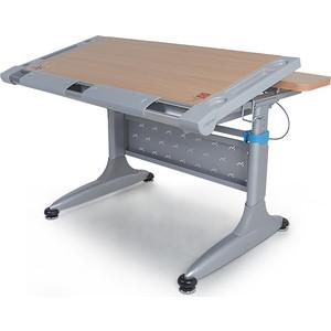 Парта Mealux Comf-Pro Tokyo 2 TH-348 beech с ящиком столешница бук, ножки серые синим