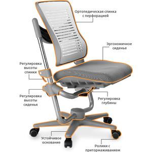Кресло Mealux Comf-Pro Angel C3-400 G обивка серая однотонная