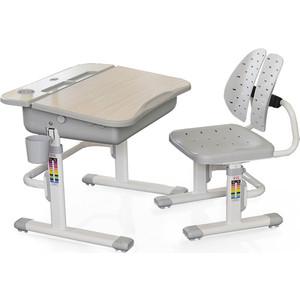 Комплект мебели (столик + стульчик) Mealux EVO-03 G столешница клен/пластик серый