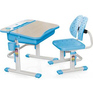 Комплект мебели (столик + стульчик) Mealux EVO-03 BL столешница клен/пластик голубой