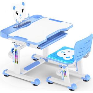 Комплект мебели (столик + стульчик) Mealux BD-04 Teddy blue столешница белая/пластик синий