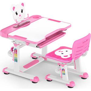Комплект мебели (столик + стульчик) Mealux BD-04 pink столешница белая/пластик розовый