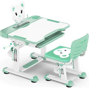 Комплект мебели (столик + стульчик) Mealux BD-04 XL Teddy green столешница белая/пластик зеленый