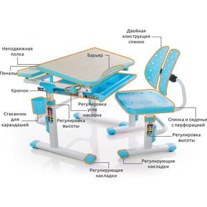 Комплект мебели (столик + стульчик) Mealux EVO-05 BL столешница клен/пластик голубой