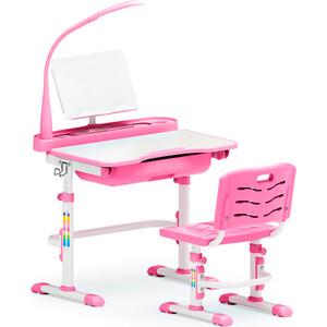 Фото - Комплект мебели (столик + стульчик + лампа) Mealux EVO-17 PN столешница белая/пластик розовый комплект мебели столик кресло лампа полка mealux evo 30 pn дерево столешница белая пластик розовый