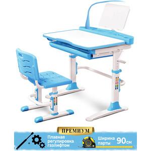 Комплект мебели (столик + стульчик лампа) Mealux EVO-19 BL столешница белая/пластик голубой