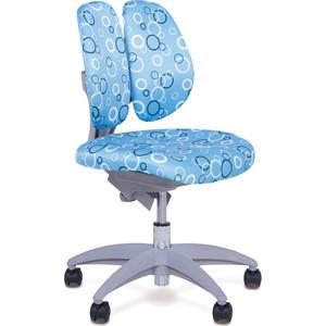 Кресло Mealux EVO Mio (Y-409, EC203) BS обивка синяя с кольцами