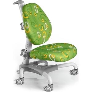 Кресло Mealux Champion Y-718 WZ белый металл/обивка зеленая с кольцами