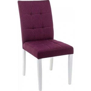 Стул Woodville Madina white/fabric purple стул woodville pion butter white