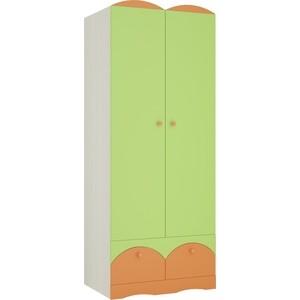 Шкаф Атлант Карамель 2 бодега светлый/зеленый/оранжевый