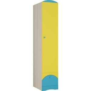 Шкаф Атлант Карамель 1 ясень светлый/желтый/ бирюза