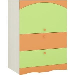 Комод Атлант Карамель 40-03 бодега светлый/зеленый/оранжевый