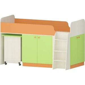 Кровать Атлант Карамель 77-04 бодега светлый/зеленый/оранжевый