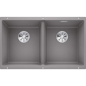 Кухонная мойка Blanco SubLine 350/350-U алюметаллик (523576)