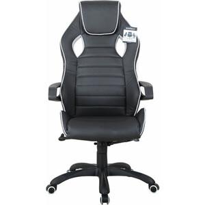 Кресло компьютерное Brabix Techno Pro GM-003 экокожа, черное/серое, вставки серые 531814 фото