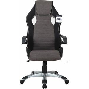 Кресло компьютерное Brabix Techno GM-002 ткань, черное/серое, вставки белые 531815