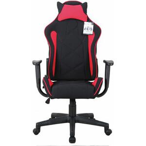 Кресло компьютерное Brabix GT Racer GM-101 подушка, ткань, черное/красное 531820 компьютерное кресло woodville kadis темно красное черное