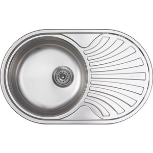 Кухонная мойка Zigmund-Shtain Kreis OV 780.8 polished с сифоном (4250055638048)