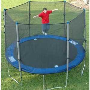 Батут с сеткой DFC Trampoline Fitness 14FT-TR-E батут dfc trampoline fitness 18 футов с сеткой 549 см