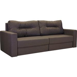 Диван-кровать Шарм-Дизайн Норд коричневый еврокнижка цены онлайн