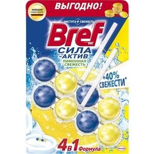 Чистящее средство для унитаза Bref Сила-актив лимонная свежесть 2 х 50 г формула 4 в 1 чистящее средство для унитаза bref сила актив свежесть лаванды 50г