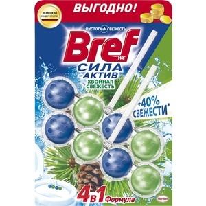 Чистящее средство для унитаза Bref Сила-актив хвойная свежесть 2 х 50 г формула 4 в 1 чистящее средство для унитаза bref сила актив с хлор компонентом 50г