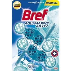 Чистящее средство для унитаза Bref Аквамарин актив океан 2 х 50 г блок bref сила актив лимонная свежесть для туалета