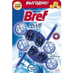 Чистящее средство для унитаза Bref Блю-актив с хлор компонентом 2 х 50 г блок bref сила актив лимонная свежесть для туалета