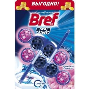 Чистящее средство для унитаза Bref Блю-актив цветочная свежесть 2 х 50 г блок bref сила актив лимонная свежесть для туалета