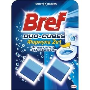 Чистящее средство для унитаза Bref дуо-куб 2 х 50 г чистящее средство для унитаза bref сила актив с хлор компонентом 50г